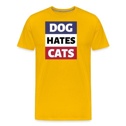 Dog Hates Cats - Männer Premium T-Shirt