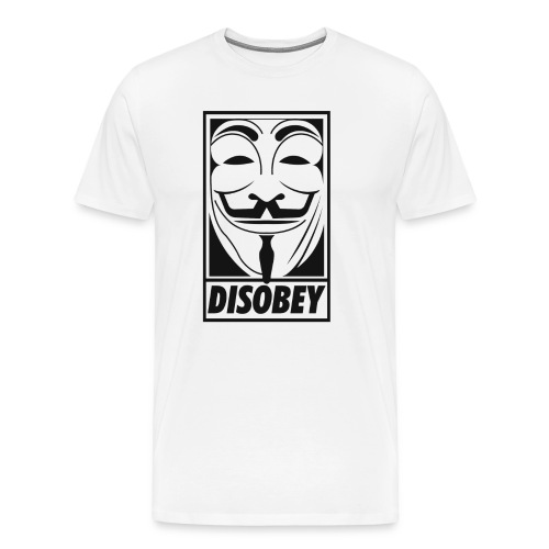 Anonymous disobey - T-shirt Premium Homme