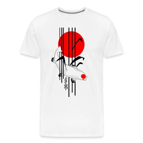 Bamboo Design - Nishikigoi - Koi Fish 5 - Männer Premium T-Shirt