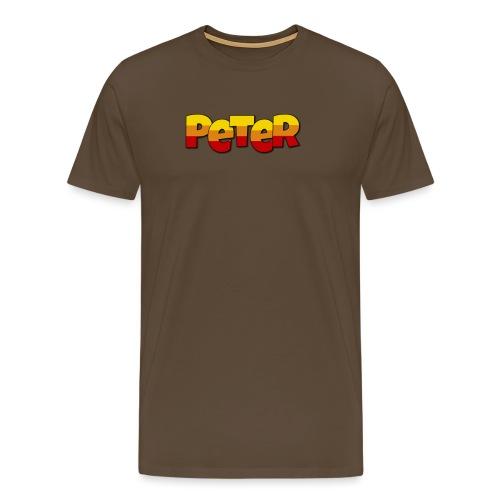 Peter LETTERS - Mannen Premium T-shirt