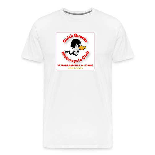Quack logo 25 years - Men's Premium T-Shirt