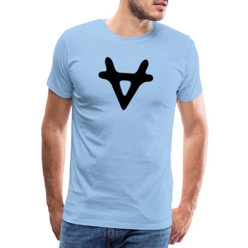 VAPORIZED LOGO BLACK - Men's Premium T-Shirt
