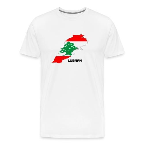 libanon landkarte - Männer Premium T-Shirt