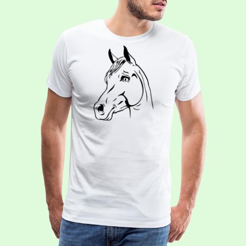 Tête de cheval - T-shirt Premium Homme