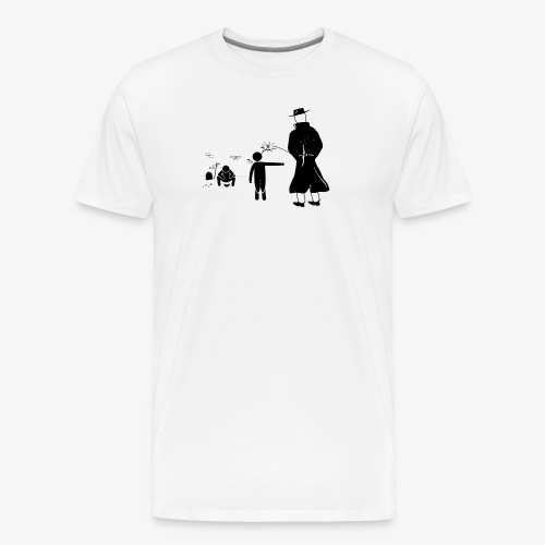 Pissing Man against wrong social action - Männer Premium T-Shirt