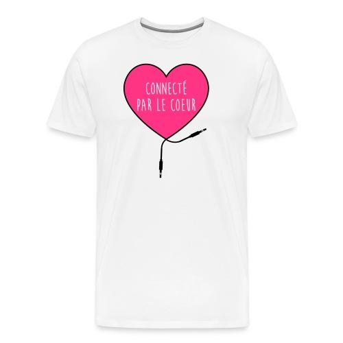 connecté par le coeur - T-shirt Premium Homme