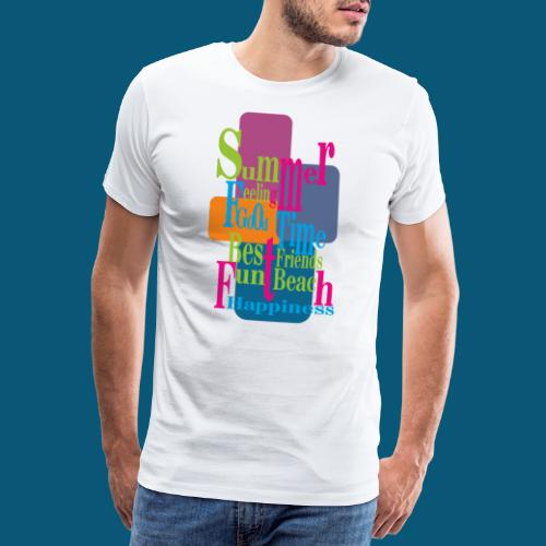 Summer Feeling.png - Männer Premium T-Shirt