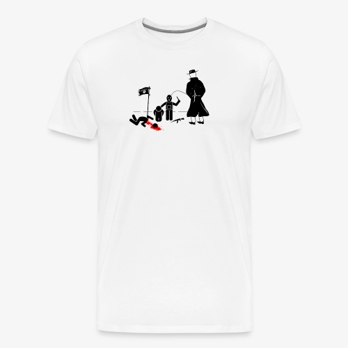 Pissing Man against terrorism - Männer Premium T-Shirt