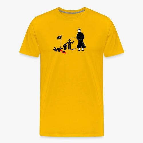 Pissing Man against terrorism - Männer Premium T-Shirt