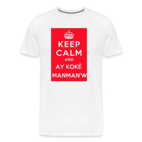 keepcalm MANMANW - T-shirt Premium Homme