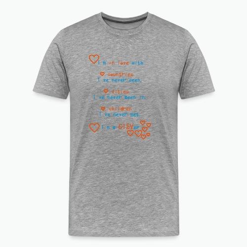 inLove col blue - Männer Premium T-Shirt