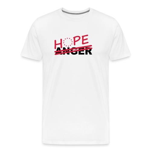 Hope over anger - Men's Premium T-Shirt