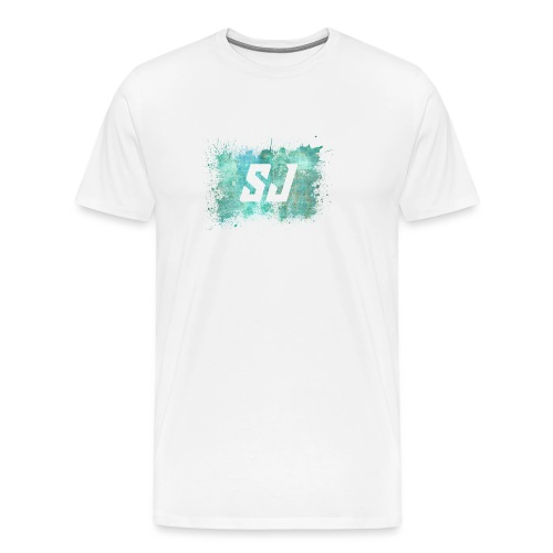 SJ Coloursplash - Premium T-skjorte for menn