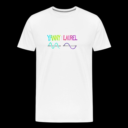 yanny laurel science - Men's Premium T-Shirt