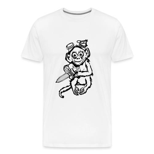 Steampunk Monkey - Men's Premium T-Shirt