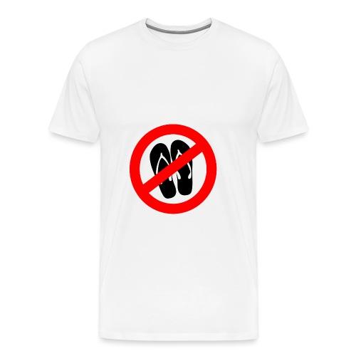 NO_FLIPFLOPS - Men's Premium T-Shirt
