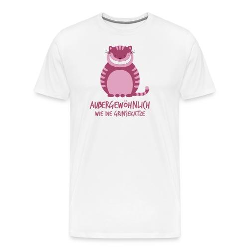 Grinsekatze mit Spruch - Männer Premium T-Shirt