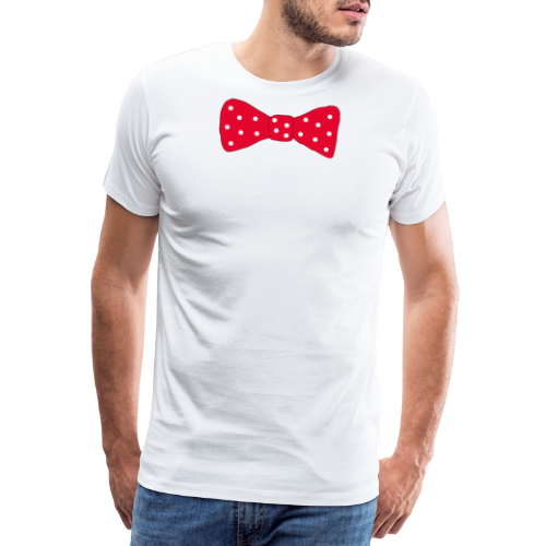 Bow tie Red with White Dots - Premium-T-shirt herr