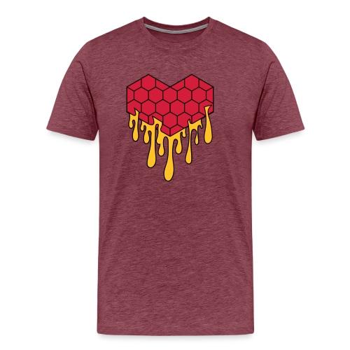 Honey heart cuore miele radeo - Maglietta Premium da uomo