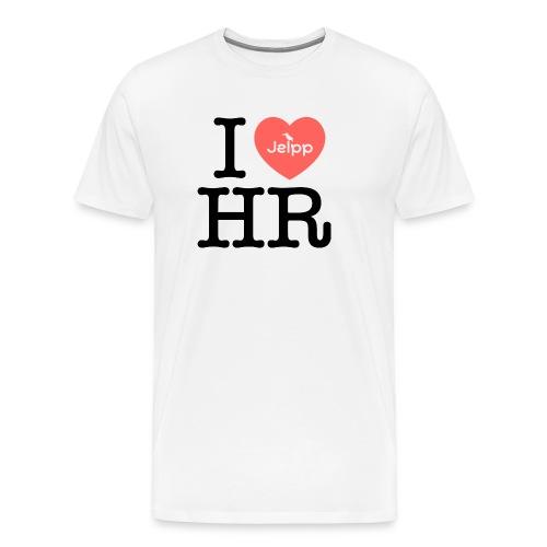 I love HR - Miesten premium t-paita