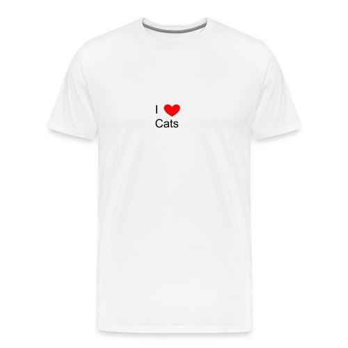 Katzen Merch - Männer Premium T-Shirt