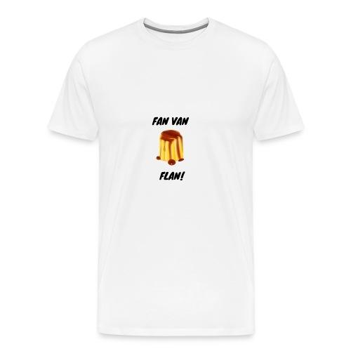 Fan van flan - Mannen Premium T-shirt