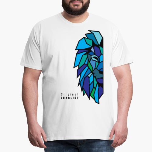 Lion's Head [blue] - Koszulka męska Premium