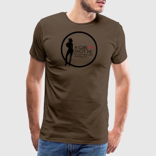 girl shot me - Herre premium T-shirt