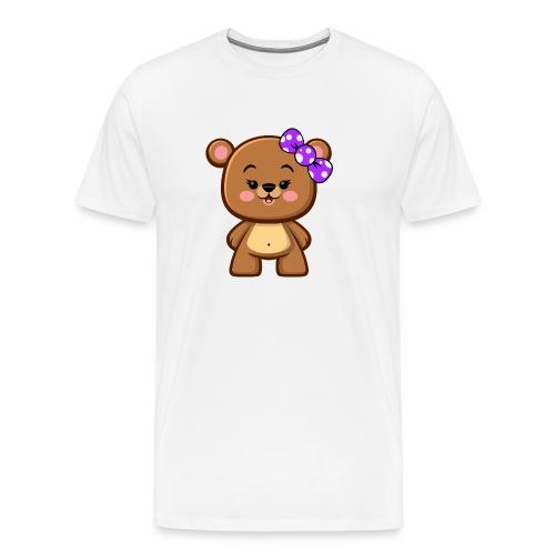 Brown Bear Girl - Kawaii - Men's Premium T-Shirt