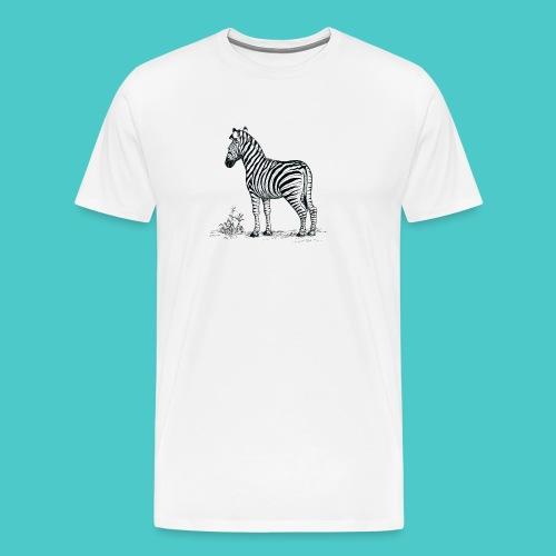 Cebra - Camiseta premium hombre