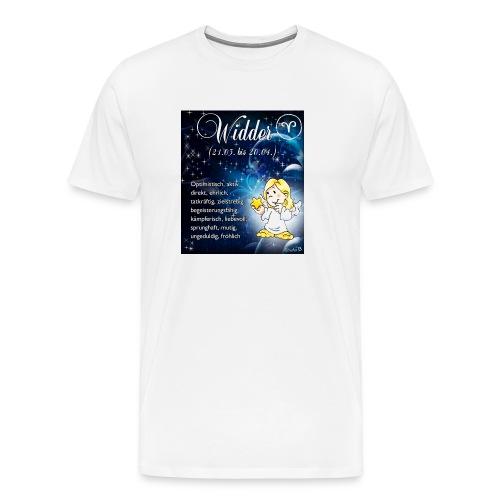 Schutzengel-Sternzeichen-Tasse Widder - Männer Premium T-Shirt