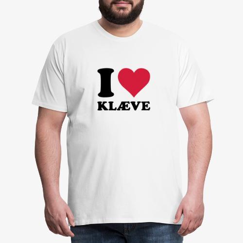 i love kleive - Premium T-skjorte for menn