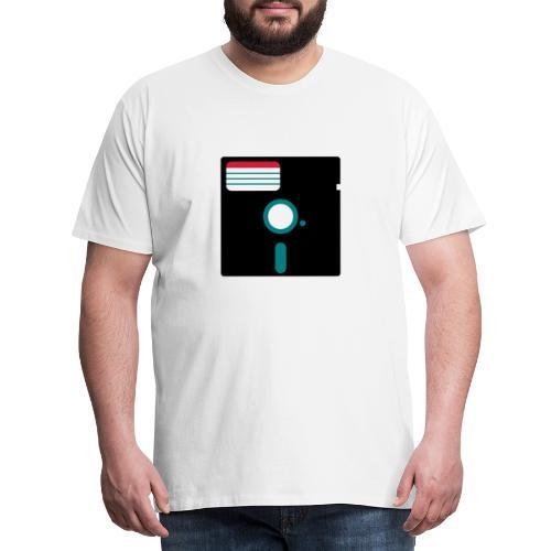 5 1/4 inch floppy disk - Miesten premium t-paita