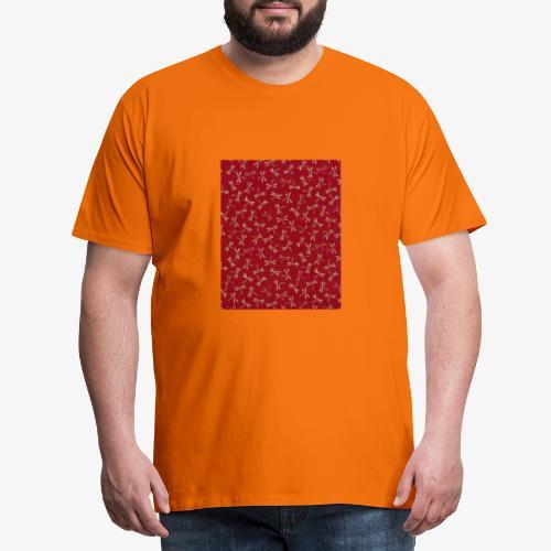 Motif dragon sur fond rouge - T-shirt Premium Homme