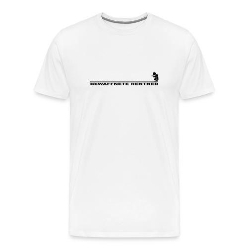 Rentner mit Linie schwarz png - Männer Premium T-Shirt