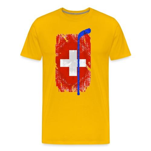 Schweizer Flagge Hockey - Männer Premium T-Shirt