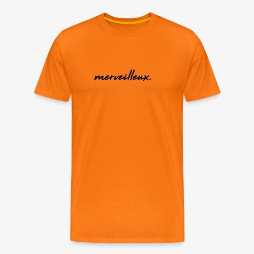 merveilleux. Black - Men's Premium T-Shirt