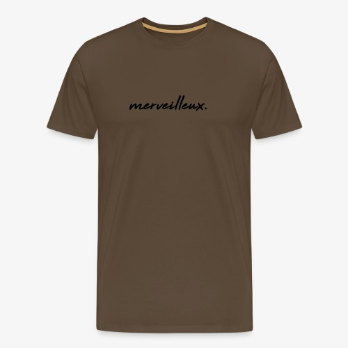 merveilleux. Black - Men's Premium T-Shirt