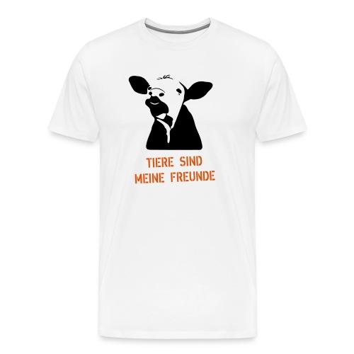 tiere sind meine freunde - Männer Premium T-Shirt