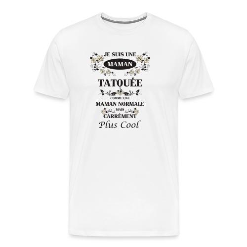 Maman Tatouée rose beige - T-shirt Premium Homme