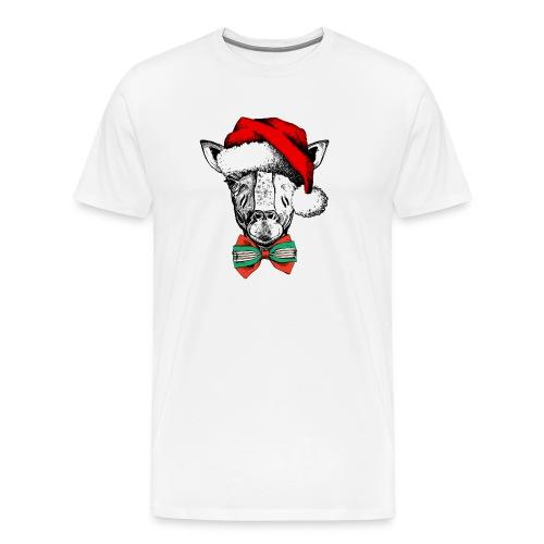 Christmas Giraffe - Men's Premium T-Shirt