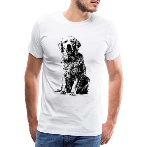 Golden Retriever - Hunde Geschenkidee - Männer Premium T-Shirt
