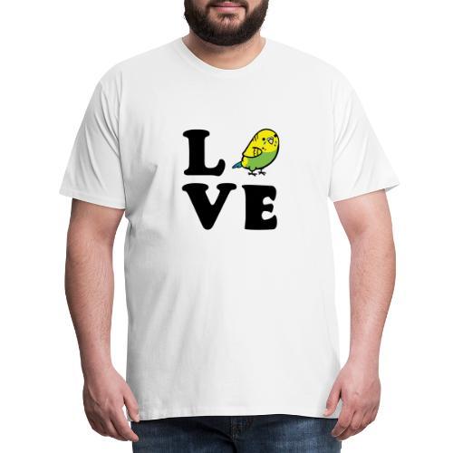 Love Wellensittich - Männer Premium T-Shirt