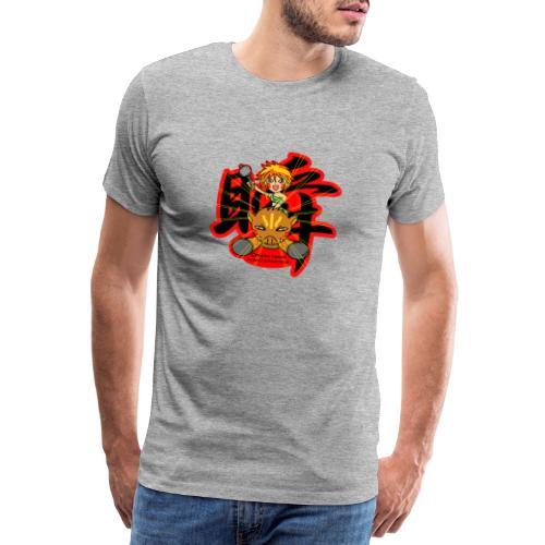 Wild girl and pig - Men's Premium T-Shirt