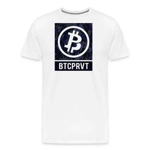 BTCPRVT Digital Camo Merchandise - Men's Premium T-Shirt