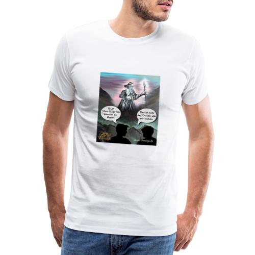 Der Druide mit dem Ring - Männer Premium T-Shirt