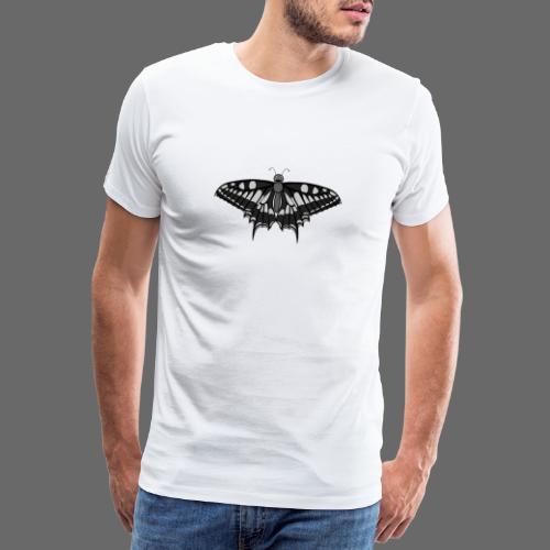 Schmetterling grau - Männer Premium T-Shirt