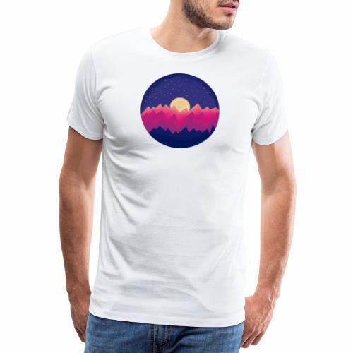 Mondschein am Berg - Männer Premium T-Shirt