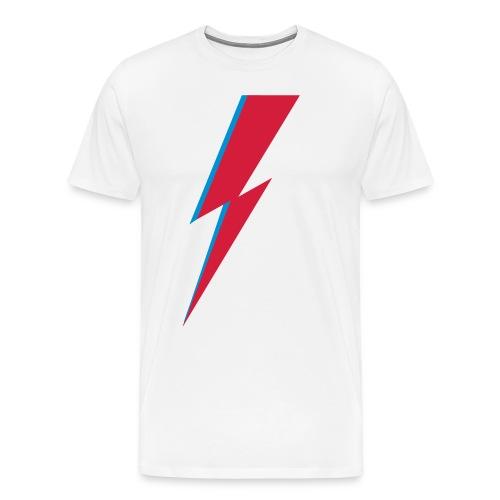 Blitz, Musik, Bowie, heroes, blackstar, rebel - Männer Premium T-Shirt