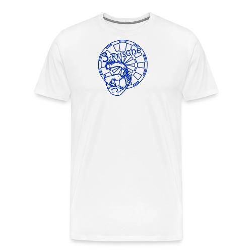 3-Frische Logo blau - Männer Premium T-Shirt